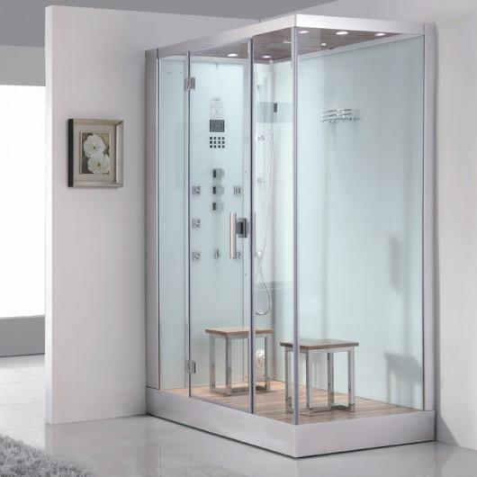 "Ariel Platinum DZ961F8 Steam Shower White 59""W x 35""D x 89""H - BathVault"