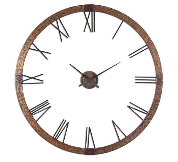 "Uttermost Amarion 60"" Copper Wall Clock 06655 - BathVault"