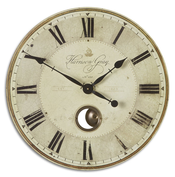 "Uttermost Harrison Gray 23"" Clock 06032 - BathVault"