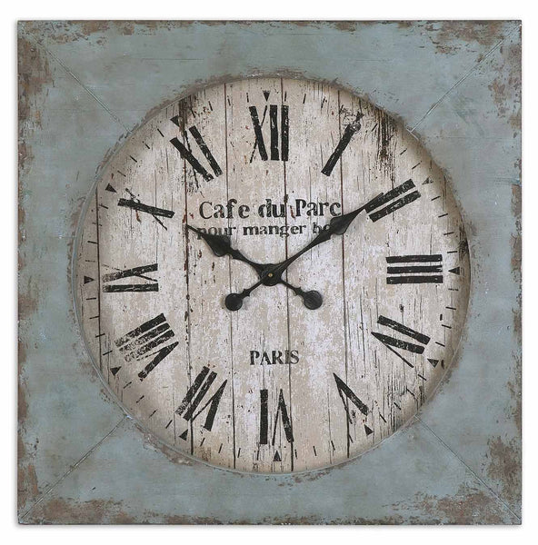 Uttermost Paron Square Wall Clock 06079 - BathVault