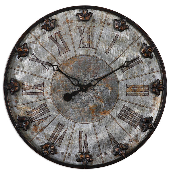 Uttermost Artemis Antique Wall Clock 06643 - BathVault
