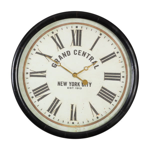 "Uttermost Leonor ""Grand Central"" Wall Clock 06098 - BathVault"