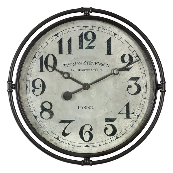Uttermost Nakul Industrial Wall Clock  06449 - BathVault