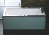Eago AM151ETL-L 71 in. Acrylic Flatbottom Whirlpool Bathtub in White - BathVault