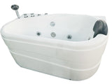 Eago AM175-L 57 in. Acrylic Flatbottom Whirlpool Bathtub in White - BathVault