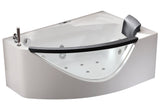 Eago AM198ETL-L 59 in. Acrylic Flatbottom Whirlpool Bathtub in White - BathVault