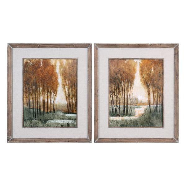 Uttermost Custom Golden Forest Landscape Prints S/2 41572 - BathVault