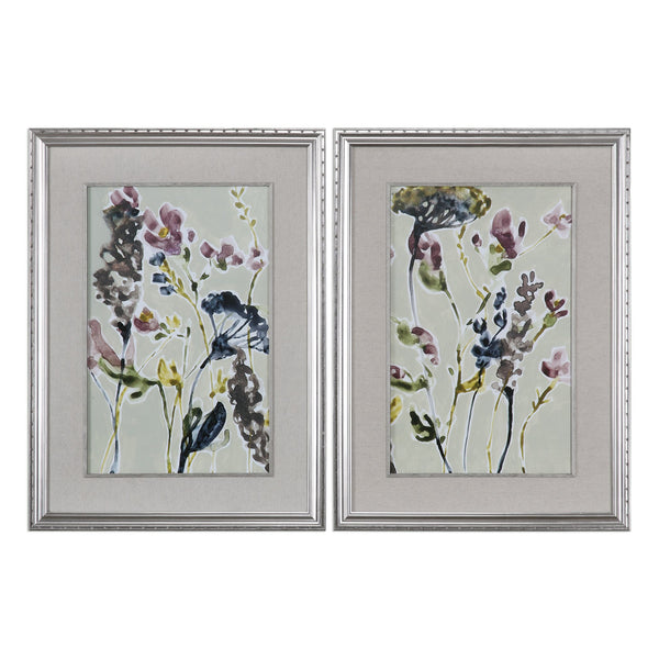 Uttermost Parchment Flower Field Prints, Set Of 2 33670 - BathVault