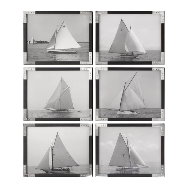 Uttermost Sailboats Prints S/6 41580 - BathVault