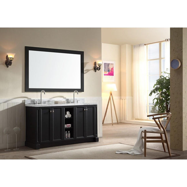 "ARIEL Westwood 61"" Double Sink Bathroom Vanity Set C061D - BathVault"
