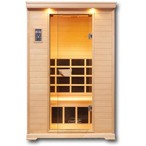 2 Person Clearlight Infrared Essential Nordic Spruce Saunas CE-2 - BathVault