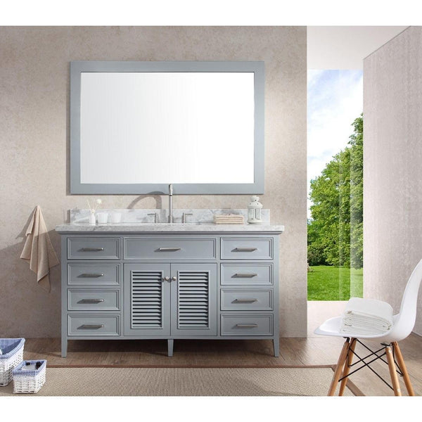 "ARIEL Kensington 61"" Single Sink Vanity Set D061S - BathVault"