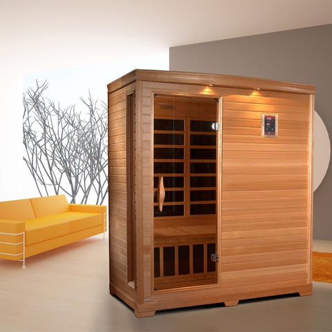 Golden Designs 3 Person Low EMF Far Infrared Sauna GDI-3306-01 - BathVault