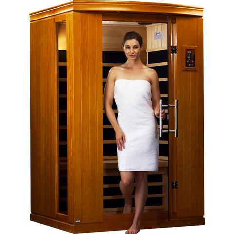 Golden Designs 2 Person Dynamic Infrared Sauna Venice II Edition DYN-6210-02 - BathVault