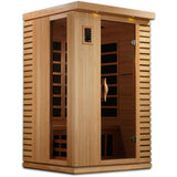 Golden Designs 2 Person Near Zero EMF Far IR Sauna GDI-6273-01 - BathVault