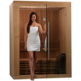 Golden Designs 2-3 Person Traditional Steam Sauna Sundsvall Edition GDI-7289-01 - BathVault