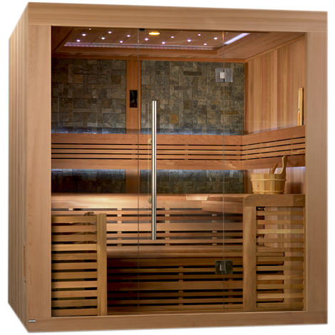 Golden Designs 4-6 Person Traditional Steam Sauna Bergen Luxury Edition GDI-7689-01L - BathVault