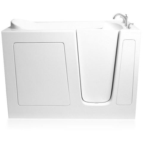 "ARIEL Walk In Bathtub Whirpool 51"" x 26"" x 38"" EZWT-2651-SOAKER - BathVault"