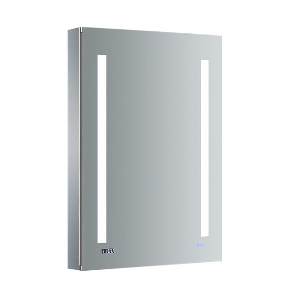 "Fresca Tiempo 24"" Wide x 36"" Tall Bathroom Medicine Cabinet w/ LED Lighting & Defogger - BathVault"