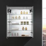 "Fresca Tiempo 30"" Wide x 36"" Tall Bathroom Medicine Cabinet w/ LED Lighting & Defogger - BathVault"