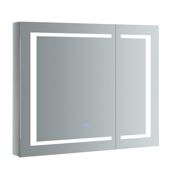 "Fresca Spazio 36"" Wide x 30"" Tall Bathroom Medicine Cabinet w/ LED Lighting & Defogger - BathVault"