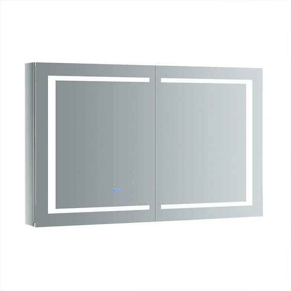 "Fresca Spazio 48"" Wide x 30"" Tall Bathroom Medicine Cabinet w/ LED Lighting & Defogger - BathVault"