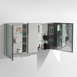 "Fresca 50"" Wide x 26"" Tall Bathroom Medicine Cabinet w/ Mirrors - BathVault"