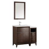 "Fresca Cambridge 36"" Antique Coffee Traditional Bathroom Vanity w/ Mirror - BathVault"