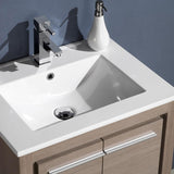 "Fresca Allier 24"" Gray Oak Modern Bathroom Vanity w/ Mirror - BathVault"