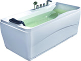 Eago 63 in. Acrylic Flatbottom Bathtub in White - BathVault