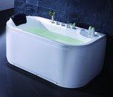 Eago 59 in. Acrylic Flatbottom Bathtub in White - BathVault