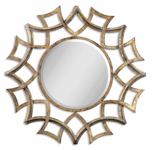 Uttermost Demarco Round Antique Gold Mirror 12730 B - BathVault