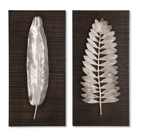 Uttermost Silver Leaves Wall Art 04001 - BathVault