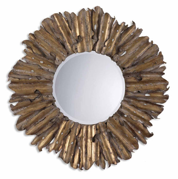 Uttermost Hemani Antique Gold Mirror  12742 B - BathVault