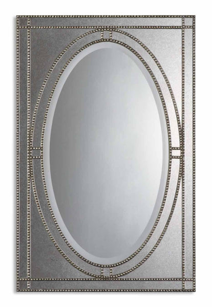 Uttermost Earnestine Antique Silver Mirror 08055 B - BathVault