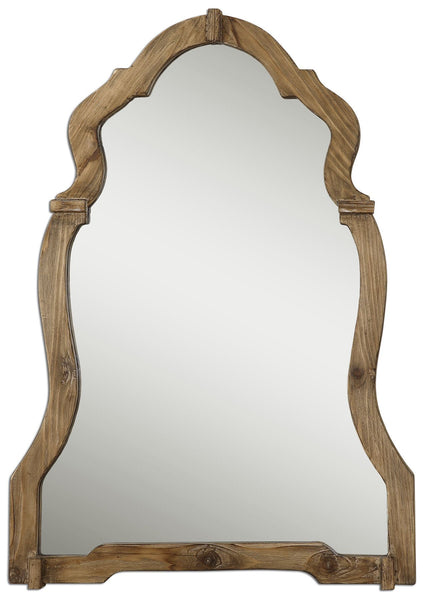 Uttermost Agustin Light Walnut Mirror 07632 - BathVault