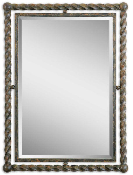 Uttermost Garrick Wrought Iron Mirror 01106 - BathVault
