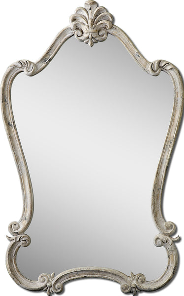 Uttermost Walton Hall Antique White Mirror 12833 - BathVault