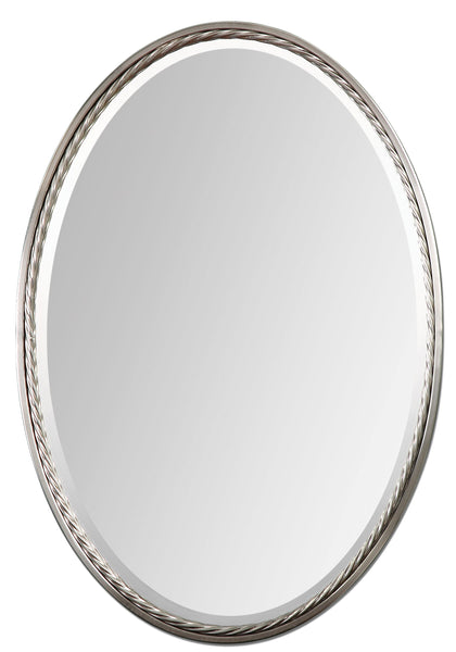 Uttermost Casalina Nickel Oval Mirror 01115 - BathVault