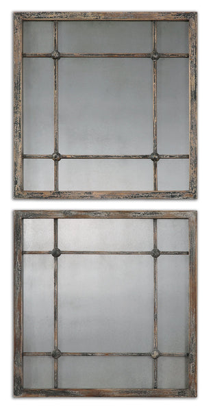 Uttermost Saragano Square Mirrors Set/2 13845 - BathVault