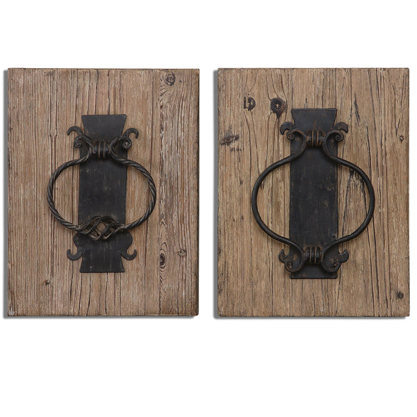 Uttermost Rustic Door Knockers Wall Art S/2 07654 - BathVault