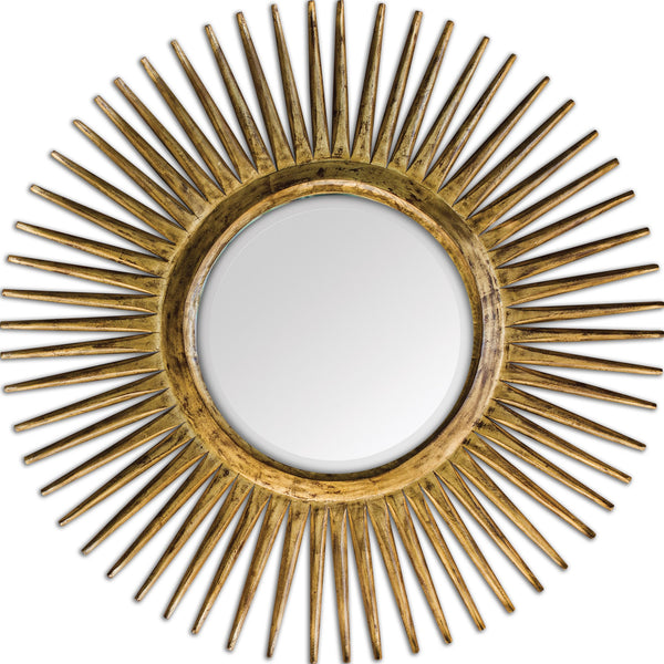 Uttermost Destello Gold Starburst Mirror 05032 - BathVault