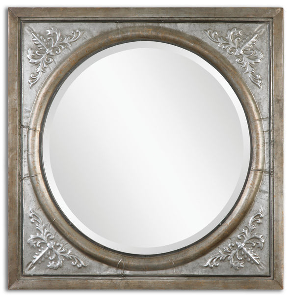 Uttermost Ireneus Burnished Silver Mirror 13874 - BathVault