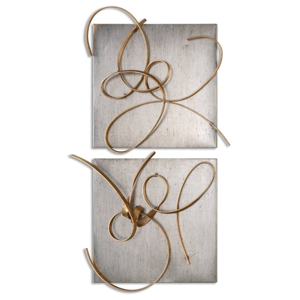 Uttermost Harmony Metal Wall Art, S/2 07071 - BathVault