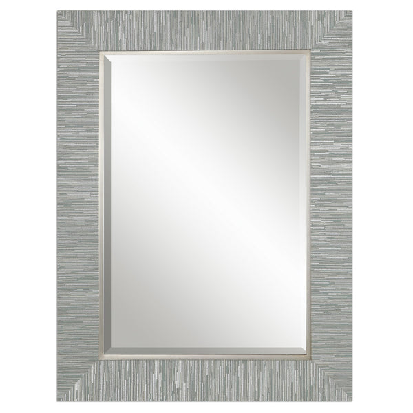 Uttermost Belaya Gray Wood Mirror 14551 - BathVault