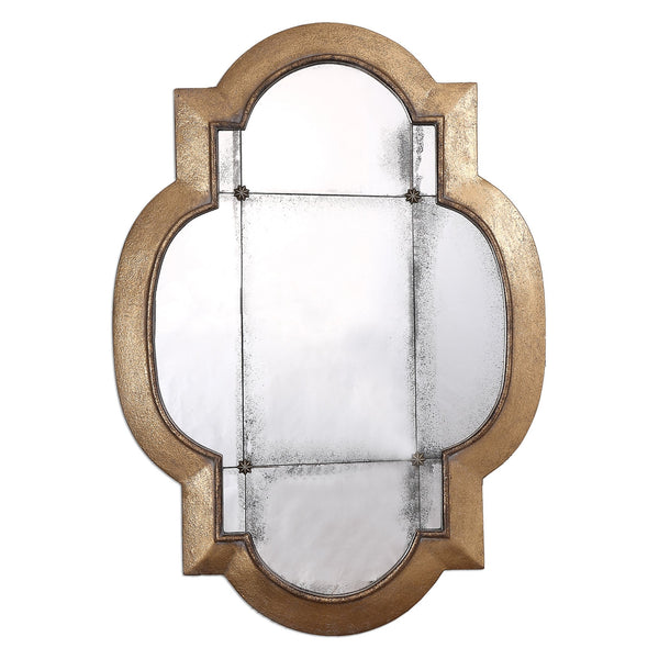 Uttermost Andorra Gold Leaf Mirror 12931 - BathVault