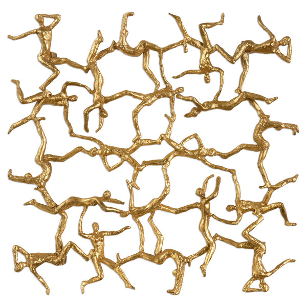 Uttermost Golden Gymnasts Wall Art 04037 - BathVault