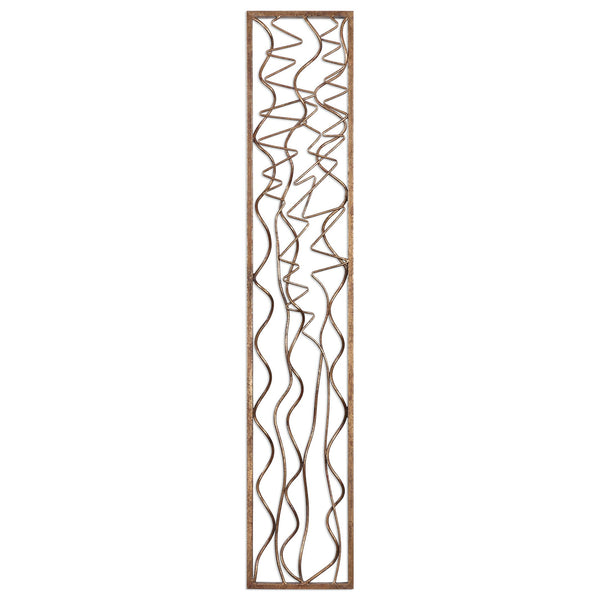 Uttermost Scribble Aged Gold Wall Panel 04059 - BathVault