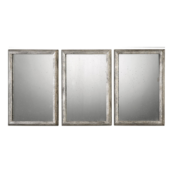 Uttermost Alcona Antiqued Silver Mirrors S/3 09117 - BathVault