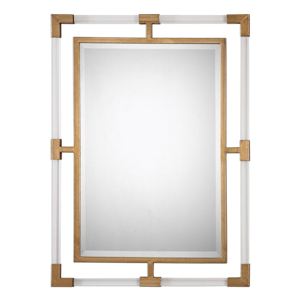 Uttermost Balkan Modern Gold Wall Mirror 09124 - BathVault